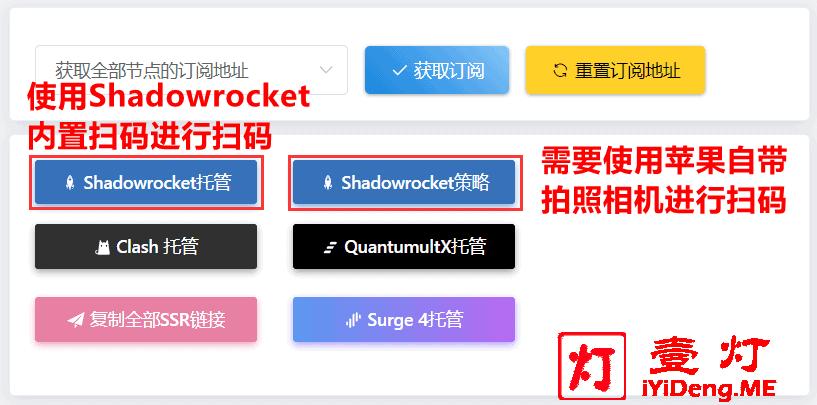 MieLink羊圈订阅中心的Shadowrocket配置二维码